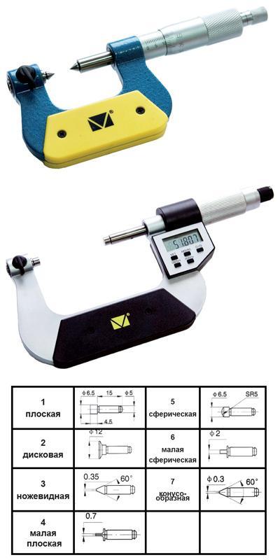 Универсальный микрометр с набором насадок