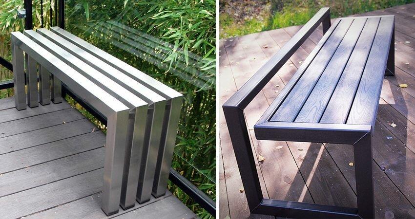 Оригинальные скамейки из профиля