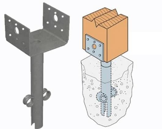 Схема обвязки с использованием оболочных свай