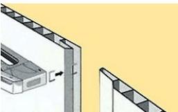 Крепление панелей степлером