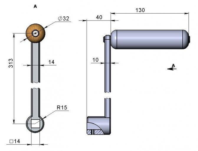Ручка для вращения ведущего ролика