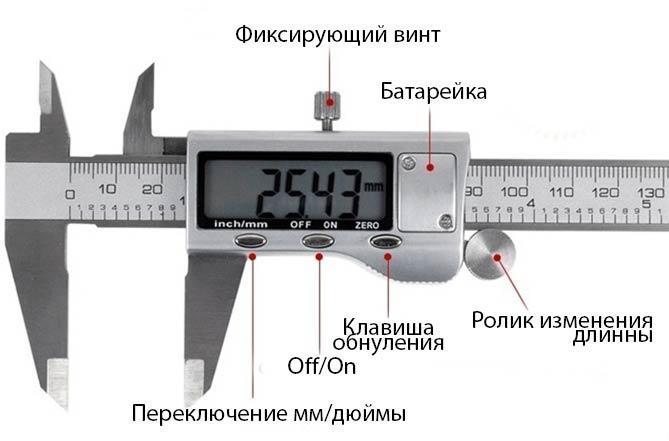 Схема устройства электронного штангенциркуля