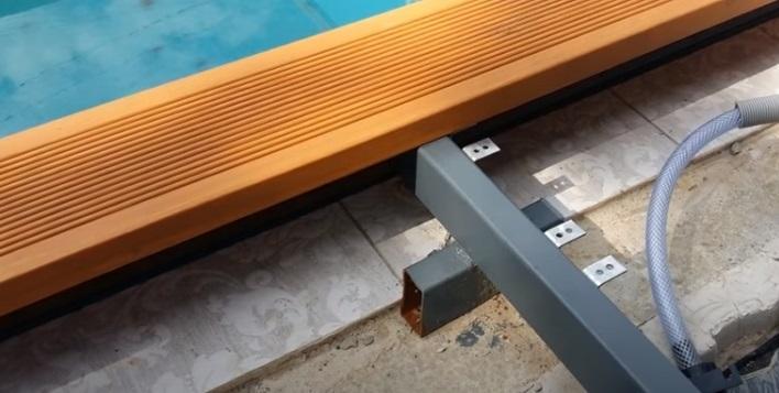 настил террасы для бассейна