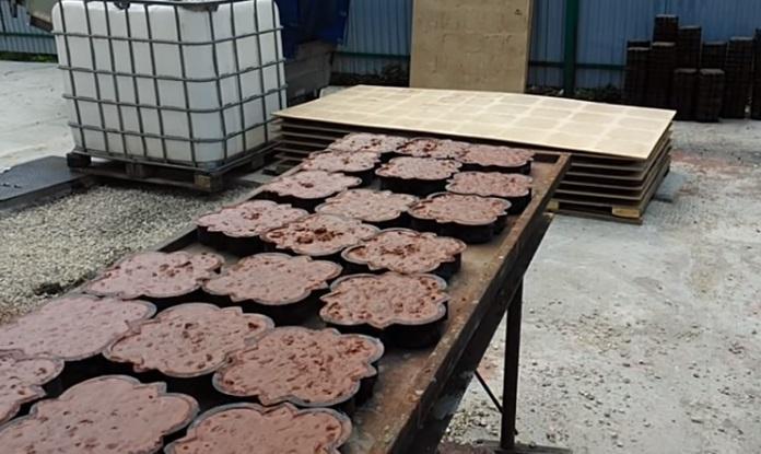 Изготовление плитки с помощью вибростола