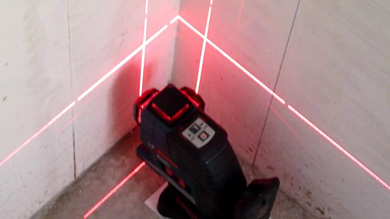 Определение геометрии углов с помощью лазерного уровня