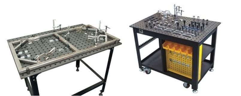 Примеры использования стола для сварочных работ с перфорированной столешницей