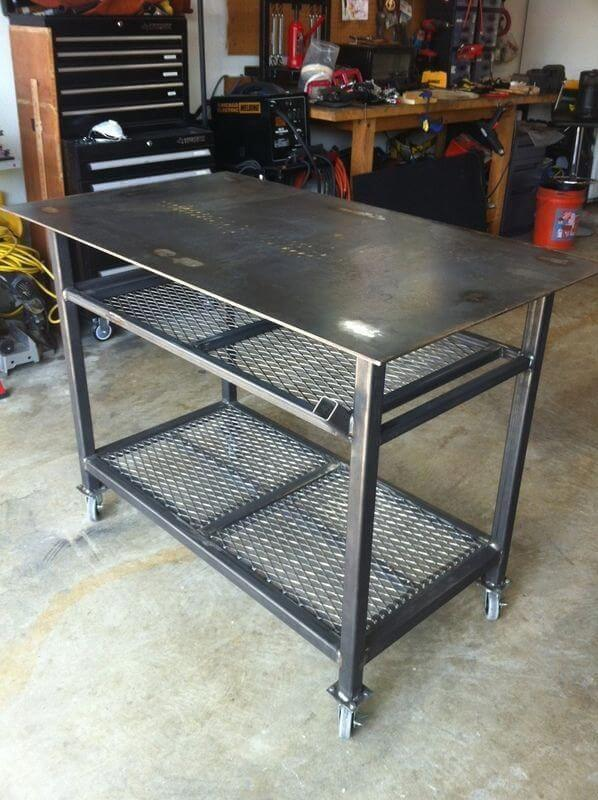 Сварочный стол на колесиках