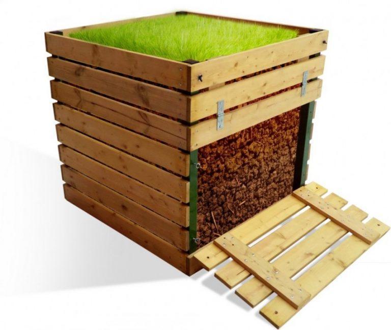 Деревянный компостный ящик