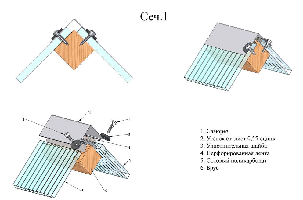 Использование соединительных уголков