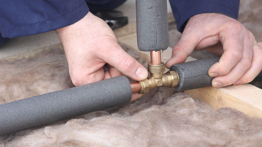 Монтаж теплоизоляции на трубы