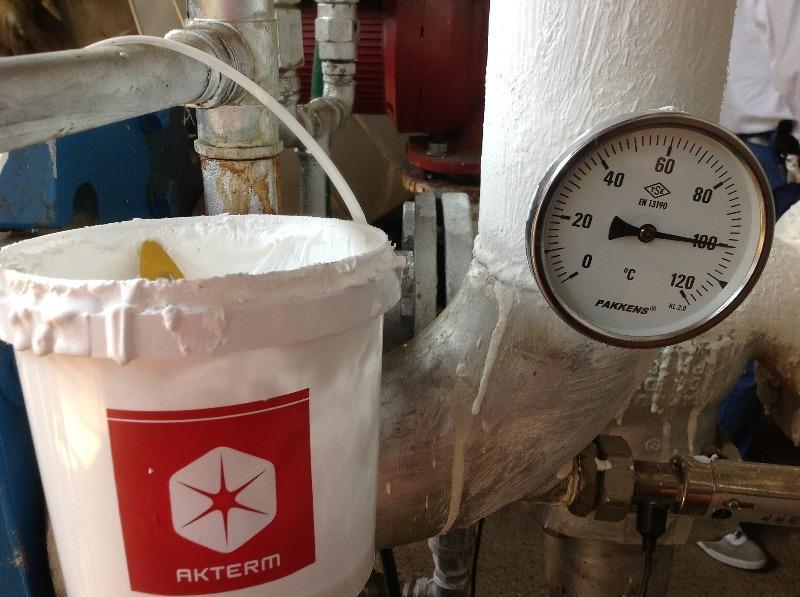 Обмазочная теплоизоляция трубы