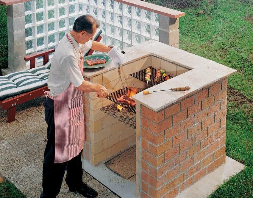 П-образная конструкция барбекю