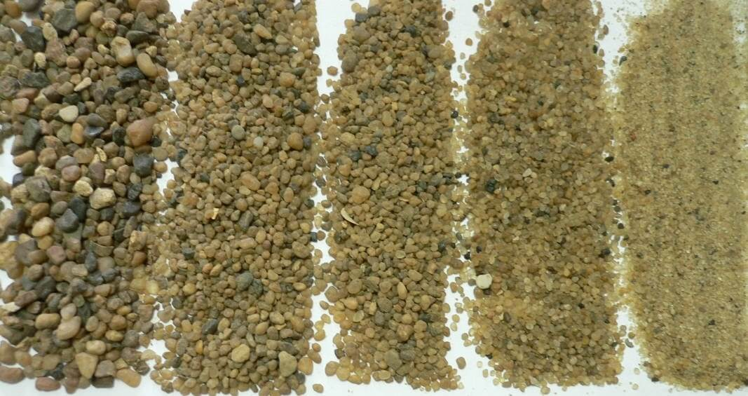 Песок кварцевый различных фракций