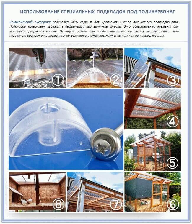 Правила использования подкладок на поликарбонат