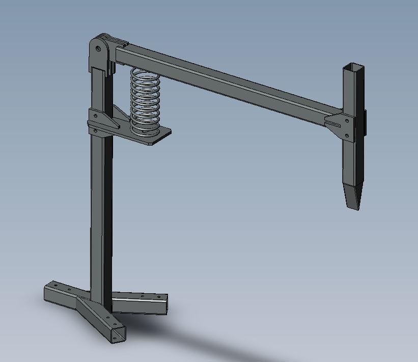 Схема устройства пружинного дровокола