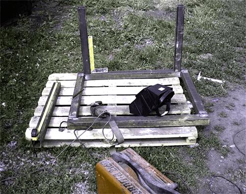 Силовая рама стола