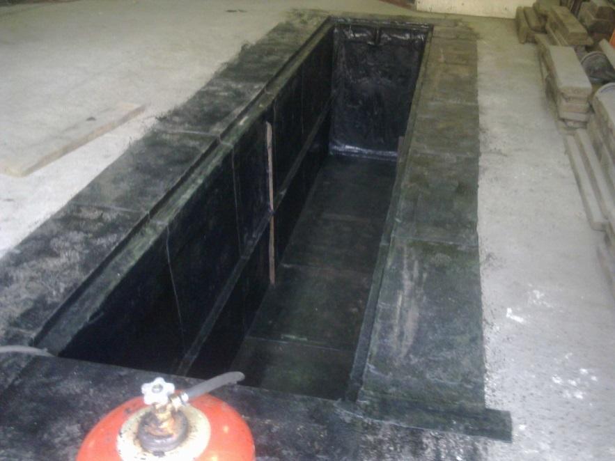 Обмазочная гидроизоляция смотровой ямы