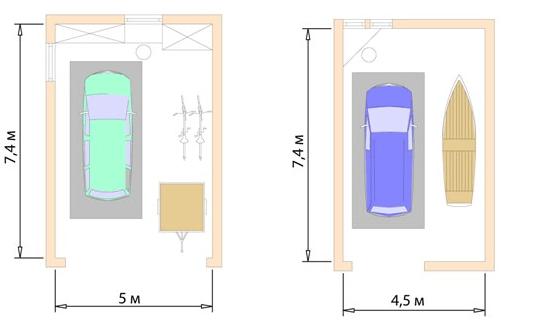 Размеры гаража с хранением