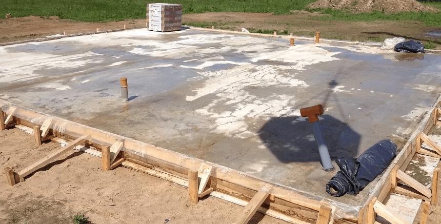 Плитный фундамент для дома. Виды фундамента. Схема. Пошаговая инструкция