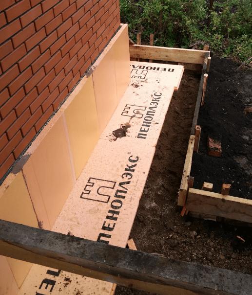 Утепляем фундамент дома снаружи используя пеноплекс