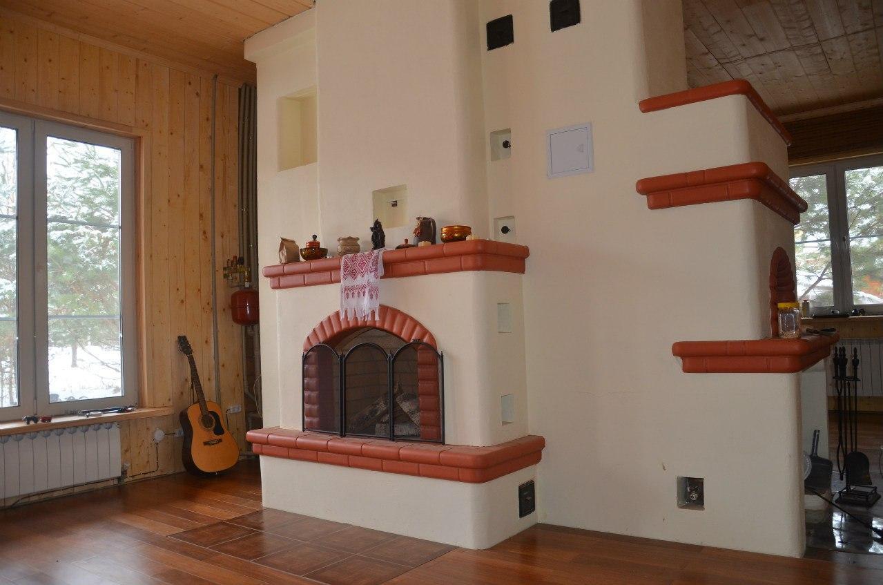 Русская печь в интерьере современного дома